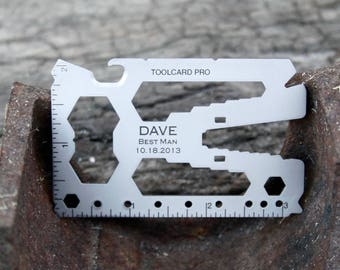 Personalized Best Man Gift - Credit Card-Sized Toolcard Multitool with Money Clip - Best Man Gift Box - Best Man Thank You Gift - Guy Gift