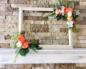 Photo Prop Frame, Engagement Party Selfie Frame,  Wedding Floral Selfie Frame; Selfie Station; Photobooth Frame; Bridal Shower Selfie Frame