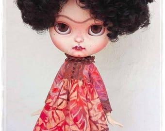 LITTLE FRIDA IV Frida Kahlo Girl Icy Doll / Blythe custom doll by Antique Shop Dolls