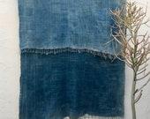 Mossi Cloth African Fabric   Vintage Textile Indigo Mudcloth African Indigo Cloth African Fabric Indigo fabric Indigo Throw Beach Blanket 97