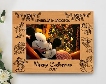 christmas disney picture frame personalized frame 5x7 frame disney tripvacation frame - Disney Picture Frame
