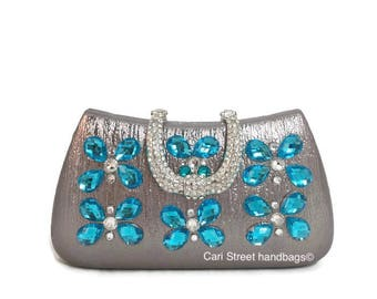 Cari Street handbags - Minaudière - Embellished Handbag - Minaudiere Handbag - Hard Box Handbag - Minaudière Clutch - Evening Bag