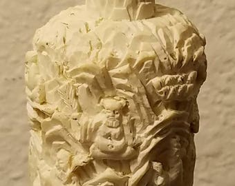 Carved Bone Chinese Snuff Bottle