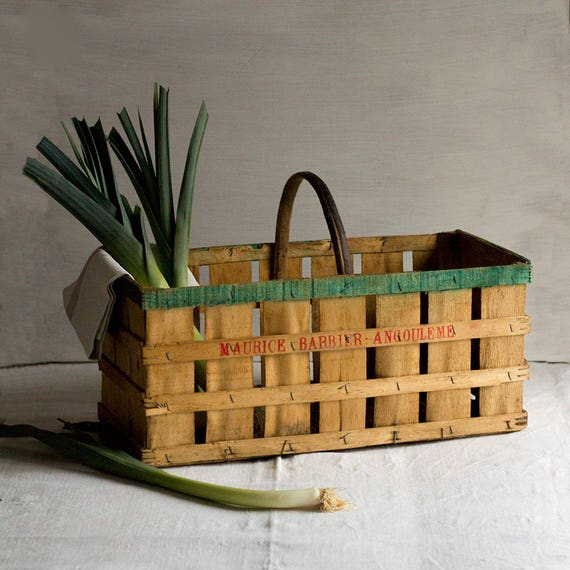 Vintage French Fruit Crate