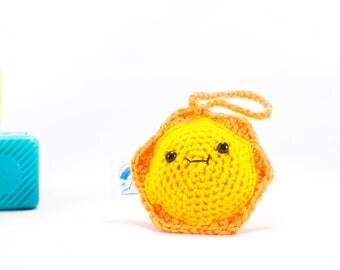 Crochet Sun, crochet sunshine, sunshine decoration, car accessory, amigurumi sun