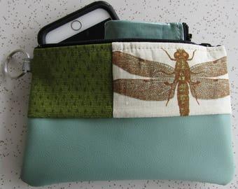 Vegan Leather Clutch -  Dragonfly Handbag - Dragonfly Gift