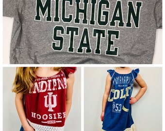 2nd CHANCE DRESS - TOP//College Tee//Michigan State University //Spartans//Up-cycled Top or Dress//