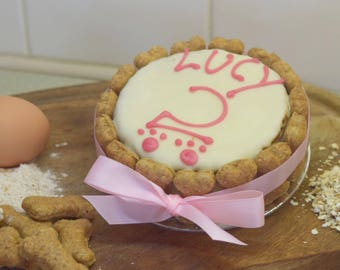 "Dog Birthday Cake. Mini 4"" Cake"