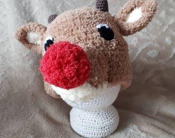 Reindeer hat.Rudolph hat
