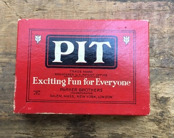 Vintage Pit Game Copyright 1919 Retro Family Game Night Party Game Trading Game by Parker Brothers