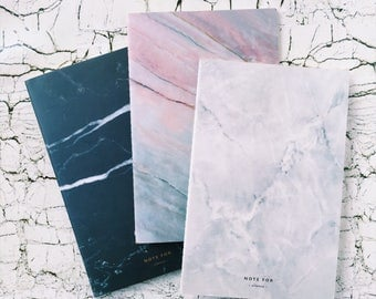A5 Marble Notebook Inserts - Lined