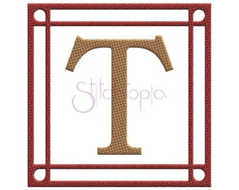 Tweed Square Embroidery Frame #1 - 9 Sizes 10 Formats Embroidery Monogram Frame Machine Embroidery Design Frame - Instant Download Files