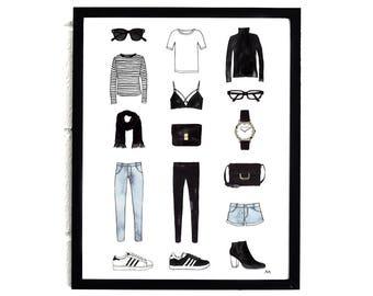 Fashion Poster / Fashion Illustration / Fashion Wall Art / Fashion Sketch / Chic Wall Art Print / Fashion Print/Fashion Illustration Poster