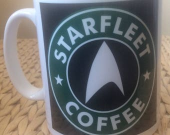 Star Trek Inspired ; Starfleet Coffee Mug