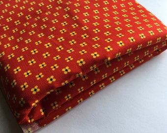 Crisp Vintage Geometric Print - Bold Colors - Yellow and Red Orange