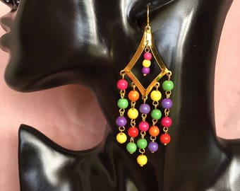 """Earrings gold plated """"Freedom"""" Rainbow collection"""