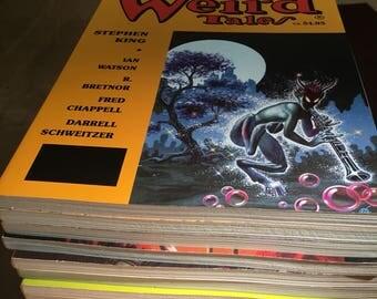 Weird Tales Magazine ~ lot of 12 issues ~ 1988-1992 ~ Stephen King, Robert Bloch, John Brunner, Dean Koontz, Chet Williamson, etc., etc.