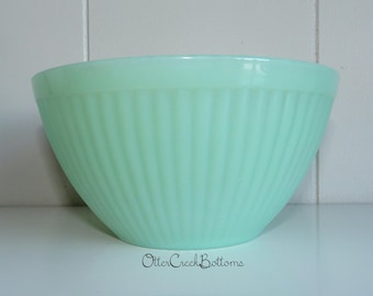 "Fire King Ribbed Bowl 5 1/4"" (Oven Fire King Glass)"
