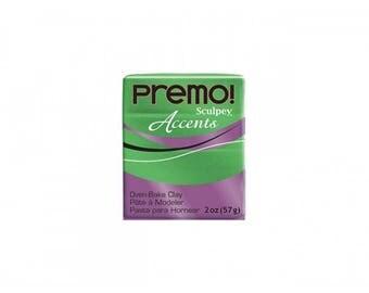 Green Glitter Accent PREMO clay glitter 57g