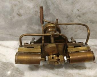 Brass hand soldered twin cylinder Steam Engine Model (live steam)
