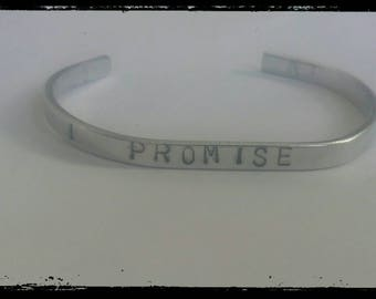 I promise hand stamped cuff bracelet