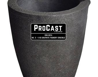 ProCast™ No. 3 - 4 Kg Clay Graphite Foundry Crucible Metal Melting Furnace Refining Gold Silver Copper Jewelry Casting Tool - CRU-0014