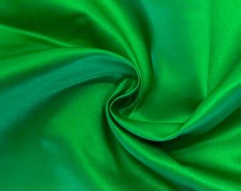 "Kelly Green Matte Satin (Peau de Soie) Duchess Fabric Bridesmaid Dress 60"" Wide Sold BTY"