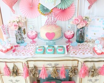 Galentine's Day Printable Party Package. Galentine's Day Party Decor. Printable / DIY.  *INSTANT DOWNLOAD*