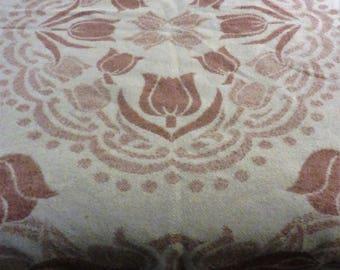 Orr Health Wool Blanket, Large Wool Blanket, Double Wool Blanket, Reversible Blanket, Salmon and White Wool Blanket, Holland Tulip
