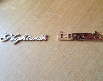 Stainless Steel handmade Epica+Nightwish pendants