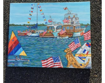 Biat Raft Up Print 11x 14 inches, fits in a standard standard size frame