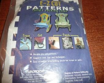 E-Z Cut Patterns Child's Rocking Chair Die Cut Patterns