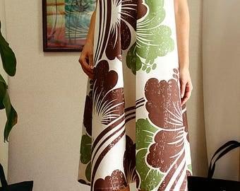 Ginger dress, Brown Hibiscus,hawaiian fabric,HNLS02611-74610