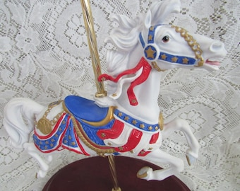 Vintage Franklin Mint American Glory, Carousel Horse