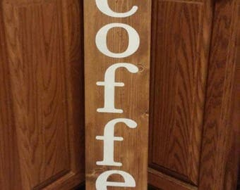 Coffee sign, homemade sign, wood sign