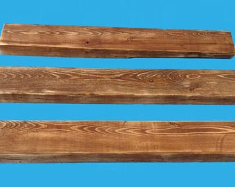 24 inch reclaimed wood floating shelf ,recycled frame wood #628-24chest