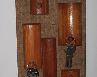 Vintage Soviet Wooden Key Board.