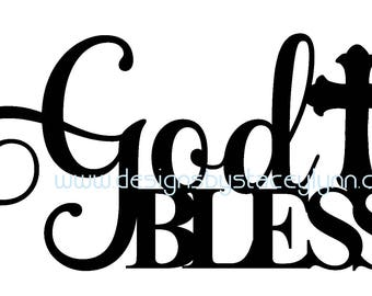God Bless SVG & JPG file | God Bless  cut file | God Bless Cricut File | God Bless Silhouette Cameo File