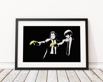 Peel Fiction By Banksy Art Print