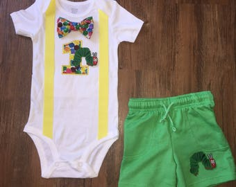 Hungry Little Caterpillar Inspired Birthday Outfit