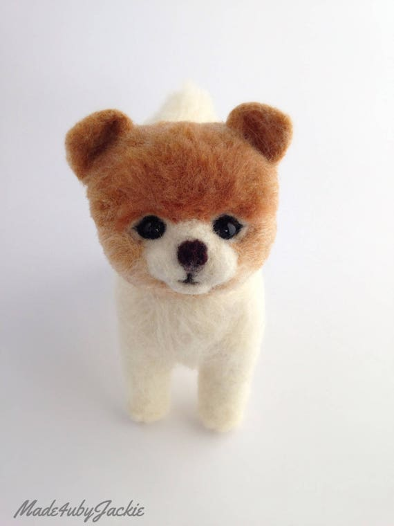Needle felted dog - Pomeranian - Felted dog - needle felted animal - felted animal - gift for her Stocking stuffer - xmas gift idea - Gift