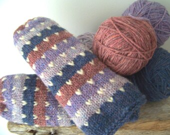 Thrummed Wool Mittens - Ladies Medium