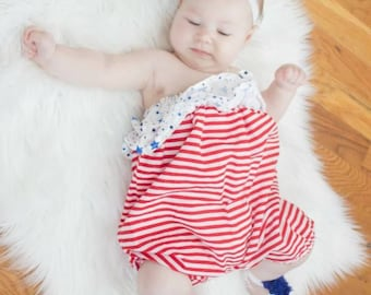 Fourth of July - fourth of July headband- American headband - glitter headband- fourth of July baby headband- red white and blue - patriotic
