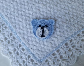 Crochet Baby Blanket Car Applique Blanket Tractor Applique