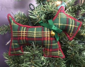 Scottie Dog Ornament - Burgundy