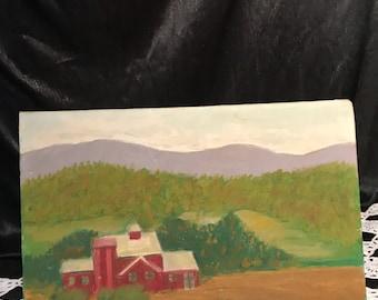 Farmhouse oil on canvas  signed