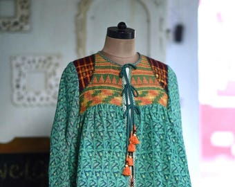 Medium ~ Mamatha Raghuveer Achanta, Hand Crafted & Hand Embroidered Kediya Jacket, One of a Kind