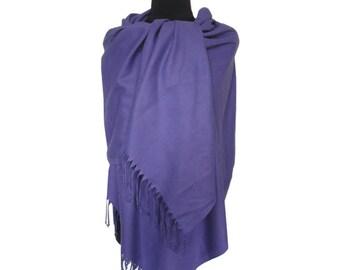 Purple Pashmina, Fashion Shawl, Christmas Gifts for Women, Pashmina Scarf, Long Pashmina, Gift for Girlfriend, Plain Pashmina, Fall Scarf