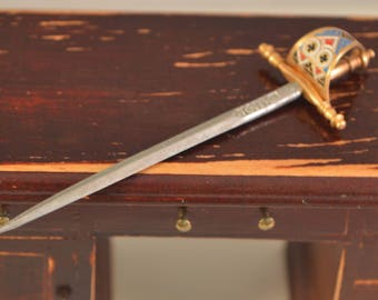 Vintage,iron steel,miniature,sword,from spain,perfect decor for dollhouse 1/12...1/6