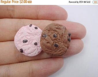 ON SALE 4pcs mixed Kawaii cookie cabochon for phone decoden